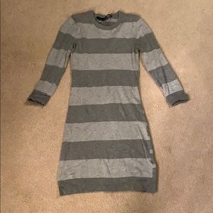 French Connection grey bodycon sweater dress, 0